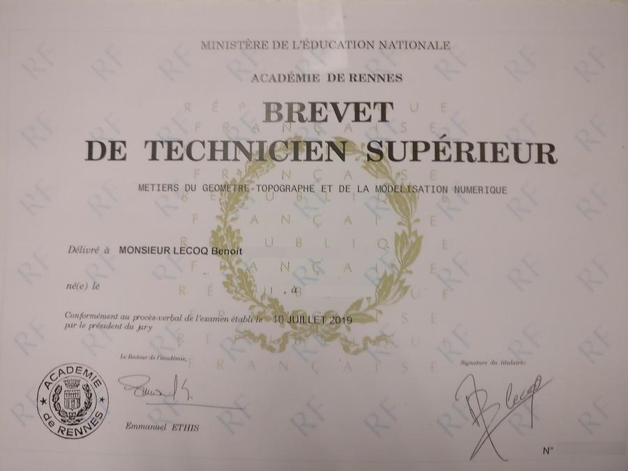 Un diplômé de plus chez BGM Géomètre-Expert