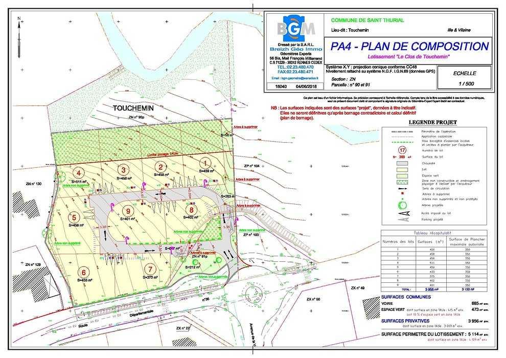 Plan de composition - Commune de Saint Thurial (35 310) / Ille & Vilaine 0