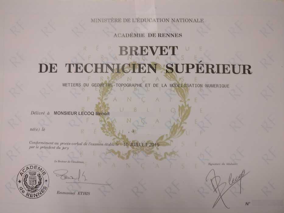Un diplômé de plus chez BGM Géomètre-Expert 0